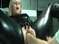 milf, big-boobs, blonde, stocking, fetish, latex, orgasm