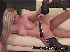 lingerie, pussy-licking, wife, blonde