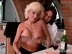 cougar, old, granny, blowjob, blonde