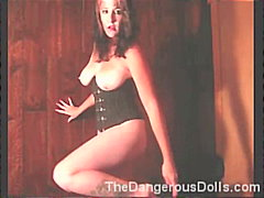 masturbation, toys, corset, solo, gothic, first-time, amateur, homemade