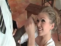 interracial, blonde, euro, blowjob