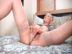 fingering, milf, blonde,