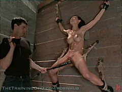 Asian slave is bound and s... - 04:06