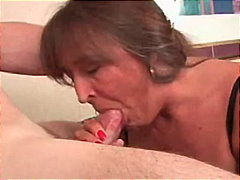 facial, mother, blowjob, old, granny