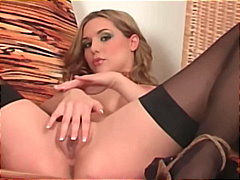 Glamour babe strips th... video