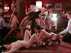 Sex slaves fucked and whipped at secret BDSM event