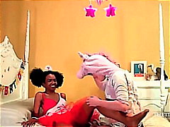 Ebony Teen fucked by U...