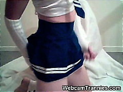 Tranny Coed on Webcam!