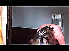 fatty sits on cock  video