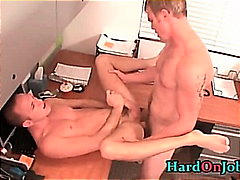 Bobby gets his tight ass fucked at work