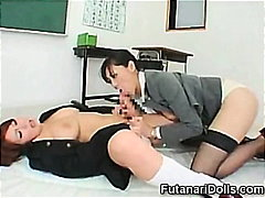 Futanari Coed Gets a Blowjob!