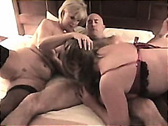mature, gilf, granny, threesome