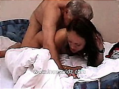 Father Cums in His Cute Daughters Pussy