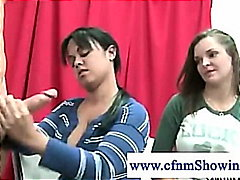 Cfnm girls horny for c...