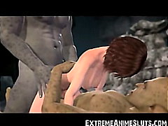 Ogres Cum In 3D Girl!  video