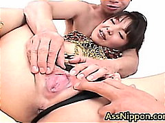 Thumb: Asian Babe Sucks and G...