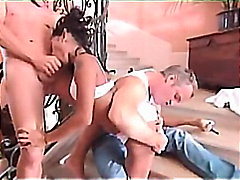 brunette, penetration, double, asian, swallow, anal, threesome, priva, creampie