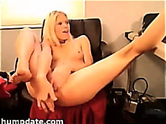 H2porn - Sexy blond stuffs big ...