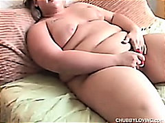 bigtits, fat, blonde, masturbation, fatty
