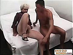 Grandma gets deep fucked by a young c...