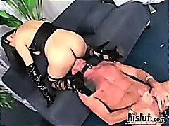 fishnet, double, cumshot, threesome, asian, boobs, fetish, mika, mika tan, tattoo, tan, facial, anal, penetration, in...