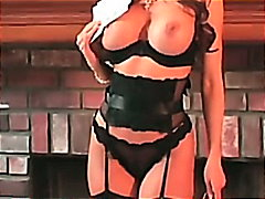 milf, busty, nylons, stockings,