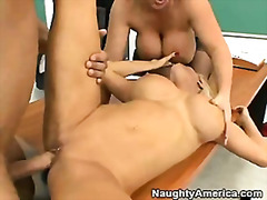 threesome, mature, busty, naughty,