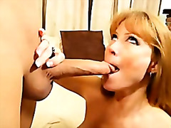 Cumming all over busty MILF