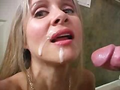 milf, hand, facial, hot wife rio, blow, fellatio, blonde, amateur