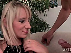 Redtube Movie:Cockhungry girl eating two cocks
