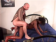 anal sex, interracial, cum shot, boots