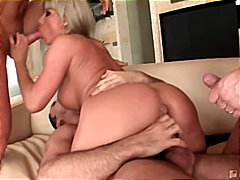 anal sex, cream pie, blowjob, cum shot, caucasian, gangbang, high heels, blonde, viktoria blond