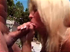 facial, big tits, blowjob, blonde, couple, pornstar, outdoor