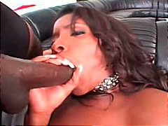 brunette, shaved, big cock, ebony