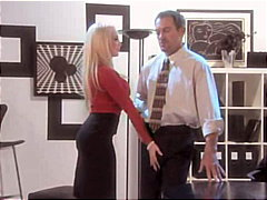 couple, secretary, stockings