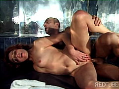 blowjob, redhead, couple,