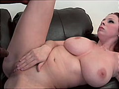 deepthroat, big tits, couple, blowjob, brunette, pornstar, interracial
