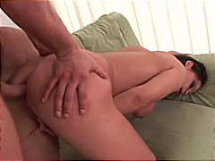 Girl gets cum on her n...