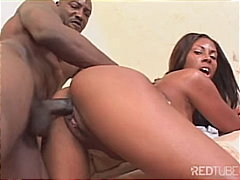 Ebony babe fucks for money