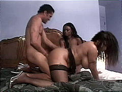 ebony, threesome, stockings, cum shot, deepthroat, anal sex, high heels, masturbation, tattoos, piercings, angelina korrs, blowjob