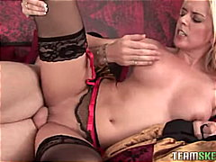 masturbation, stockings, blowjob,