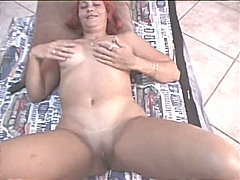 Woman with red wig sucking - 17:07