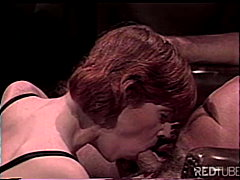 office, vintage, blowjob, redhead,