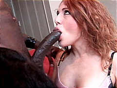interracial, tattoos, blowjob