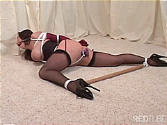 Bound and gagged with spreader bar