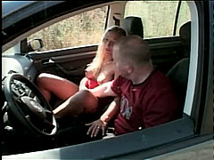 couple, high heels, car, cum shot