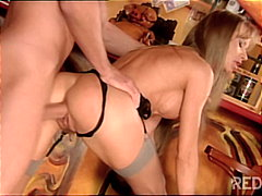 deepthroat, blonde, anal sex,