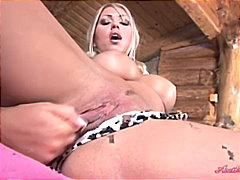 Thumb: Big titted blonde fing...