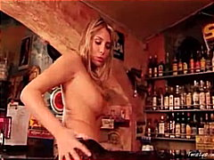 Thumb: Gina naked in the bar 2
