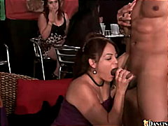 ebony, blowjob, cfnm, caucasian